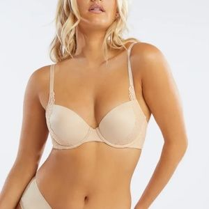 SavageXFenty Honey Nude Demi Cup Bra 34D NWT